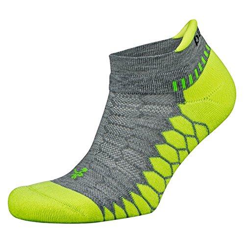 Balega Herren Silber Antimikrobielle No-Show Kompression fit Running Socken S Mid Grey/Lime