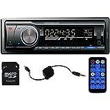 Panlelo ® PA6219EUR, Single DIN In Dash Receptor de Radio de Coche Auto Audio FM Bluetooth Incorporado MP3 USB Ranura para Tarjeta SD 1 Din Radio de Coche