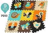 ZEARO Puzzlematte 10 tlg Babyspielmatte Umwelt Ungiftig Kinder Pädagogisches Kriechende Matte (P010)