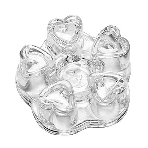 Tee Stövchen Halter Hitzebeständige Glas Kristall Herzform Teewärmer für Kaffee Wasser Topf Heizung Tee Zubehör