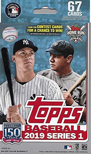 Hanger Box 2019 Topps Baseball Factory Sealed Series One mit 67 Karten inkl. möglicher Autogramme, Rookies Spiel Gebrauchte Relikkarten UVM. - Baseball-karten Topps