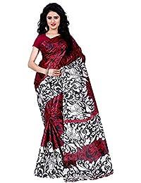 Trendz Style Taffeta Silk Animal & Floral Print Saree