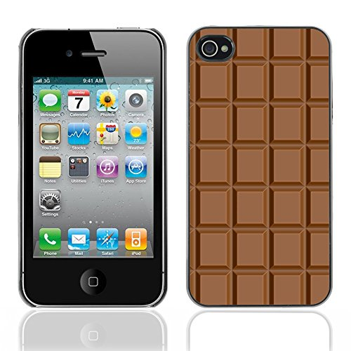 Graphic4You Keep Calm and Eat Chocolate Schokolade Design Harte Hülle Case Tasche Schutzhülle für Apple iPhone 4 und 4S Design #3