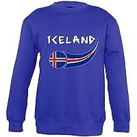 Supportershop–Sweatshirt Islandia Mixta Infantil, Azul Royal, FR: XL (Talla Fabricante: 10años)
