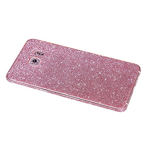 Skitic Sparkle Adesivi Film Protettore per Samsung Galaxy S6, Bling Glitter Sticker Custodia Case Bumper Cover Copertura Prottettiva Screen Protector per Samsung Galaxy S6 - Rose rosse