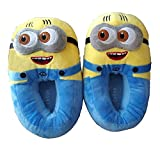 CASON - Cotton Big Indoor Slippers Soft Warm Winter Slippers Home Bedroom Shoes Slippers for Girls,Women or Emoji Slippers Minion Slippers Minion Shoes Gifts (Fits Indian Size 5-9)