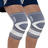 Bionix 2-Pack Compression Knee Sleeves - Best Support Brace For Meniscus Tear, Arthritis, Joint Pain, Tendonitis, Osteoarthritis, Runners & Jumpers Knee, ACL, PCL, MCL / Running / Cycling