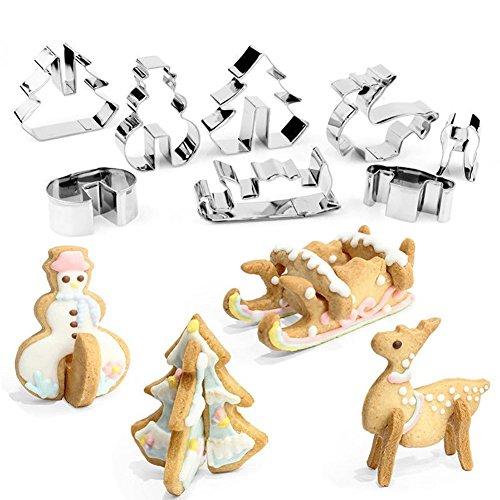 nachts-Design Edelstahl-Cookie-Cutter DIY Fondant Cake Schimmel ()
