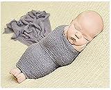 Hobees Luxus Stretch Neugeborene Jungen Mädchen Baby Fotografie Requisiten Wickeln Garn Tuch Decke