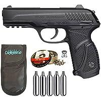 Pack pistola Perdigón Gamo PT-85 4,5mm Blowback. + Funda + balines + bombonas co2 23054/29318/38203