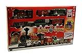 Florissima Weihnachtszug Holiday Express - Sound & Licht - 34 Teiliges Set - Batteriebetrieben (2X AA) - Maße der Bahnstrecke: 130cmx75cm