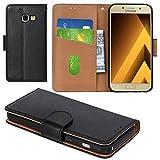 Aicoco Galaxy A3 2017 Hülle Schutzhülle Tasche Flip Case für Samsung Galaxy A3 2017 Handyhülle - Schwarz