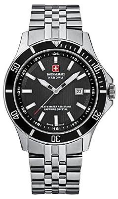 Swiss Military 06-5161.7.04.007 - Reloj analógico de cuarzo para hombre con correa de acero inoxidable, color plateado de Swiss Military