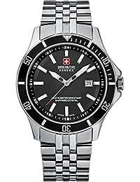 Swiss Military 06-5161.7.04.007 - Reloj analógico de cuarzo para hombre con correa de acero inoxidable, color plateado