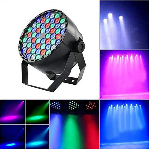 GYFHMY LED-Bühnenbeleuchtung, 54 x 3 W RGBW Par Light, DMX-Fernbedienung und Sound aktiviert, wasserdichte Wall Washer, Disco-Projektor für Partykonzert-Tanzfläche -