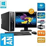 HP PC Compaq Pro 6300 SFF I7-3770 4Go 1To Graveur DVD WiFi W7 Ecran 17'