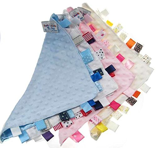 Weiches Kuscheltuch- Schnuffeltuch -Schmusetuch Trösterchen Comforter in 4 Farben (hellblau)