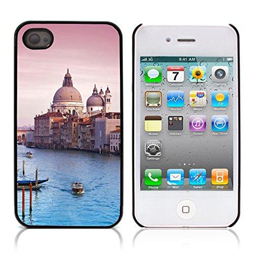 Graphic4You Manarola Italy Postkarte Ansichtskarte Design Harte Hülle Case Tasche Schutzhülle für Apple iPhone 4 und 4S Venice #2