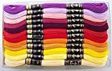 #4: Anchor Stranded Cotton Assorted Skeins, 8m (Fast Colour - 4624-01111) - 50 Skiens, 2 Shades Each of 25