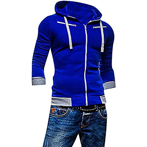 Men24 -  Felpa  - Maniche lunghe  - Uomo Blue Medium