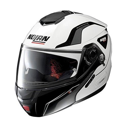 Nolan N90-2 Straton N-Com Helm XL (62) Weiß/Schwarz