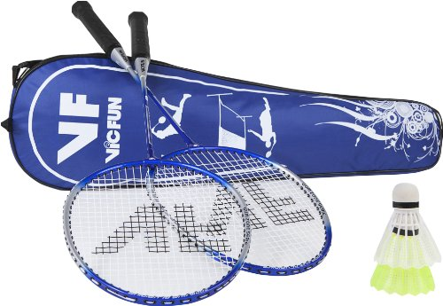 VICFUN Hobby Badminton Set Advanced, Blau, One size, 796/2/2