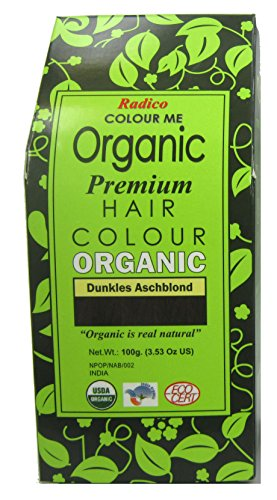 Radico Colour Me Organic Pflanzenhaarfarbe Dunkles Aschblond (bio, vegan, Naturkosmetik) DunklesAsch