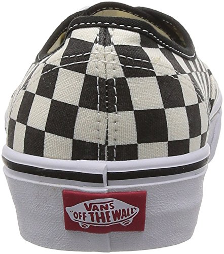 Vans U Authentic, Baskets mode mixte adulte Noir (Black/White Checker)