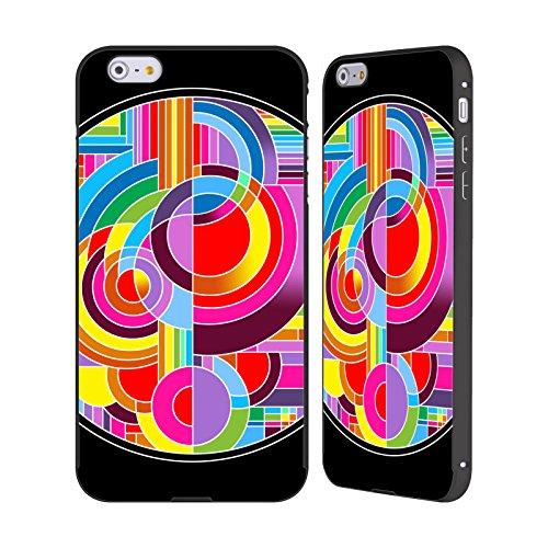 Ufficiale Howie Green Salamandre Cerchio Nero Cover Contorno con Bumper in Alluminio per Apple iPhone 6 Plus / 6s Plus Astratto