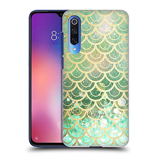 Official Nature Magick Emerald Green Teal Golden Mermaid Gold Scales Hard Back Case Compatible for Xiaomi Mi 9 SE