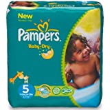 Pampers Baby Dry, Gr.5, Jumbo Plus Pack, 11-25kg, 2x72 couches