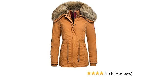 e86f5f38960e36 Navahoo Designer Winter Jacke Mantel Warmer gefütterter Parka Fellkragen  B309 [B309-Dana-Beige -Gr.XS]: Amazon.de: Bekleidung
