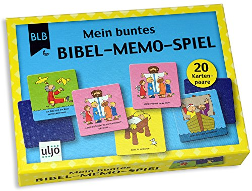 °°Bibel-Memo-Spiel mit 20 Kartenpaaren