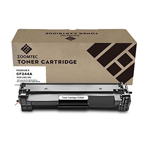 Zoomtec cf244a 44a cartuccia toner compatibili per hp laserjet pro m15a m15w, hp laserjet pro mfp m28a m28w stampante (1 nero, senza chip 1000 pagine)