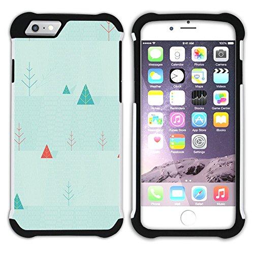 Graphic4You TV Vector Art Muster Design Hart + Weiche Kratzfeste Hülle Case Schale Tasche Schutzhülle für Apple iPhone 6 Plus / 6S Plus Design #2