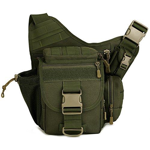 freedom-vp Militar paquete de bolsa de la cámara multifuncional táctico Messenger Bag cintura Pack para Senderismo Camping Ciclismo, Army Green