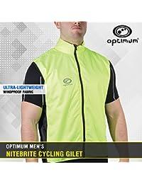 OPTIMUM Nitebrite - Chaleco de ciclismo para hombre verde verde Talla:mediano