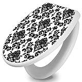 banjado - Design Toilettendeckel WC Sitz Brille 36m x 5cm x 45cm mit Motiv Barock, Toilettendeckel:Weiß
