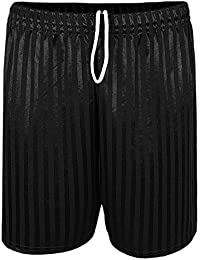 Men's Shadow Stripe Drawstring Football Sports Shorts
