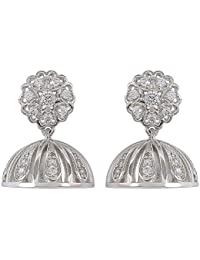 MUCH MORE Attractive American Diamond Cz Fashion Jewellery Traditional Jhumki For Womens