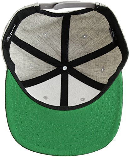 Brixton Unisex Cap Rival Snapback light heather grey/Chive