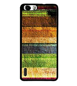 Fuson Designer Back Case Cover for Huawei Honor 6 (Pattern horizontal Colourful Brown Green)
