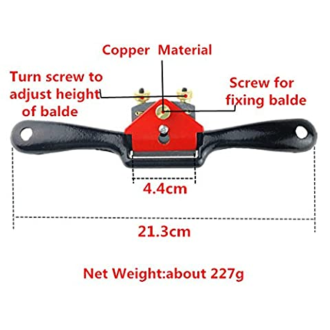 Buwico® Woodworking Plane Spoke Shave Flat Manual Planer Hand Trimming Tools Spokeshave Handy Tool9 Inch Red And
