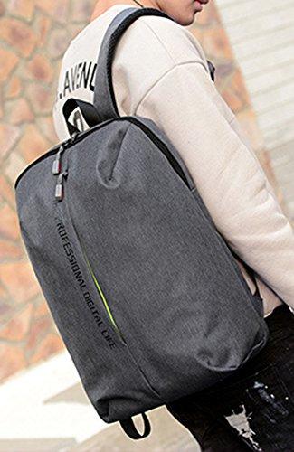 Keshi Leinwand neuer Stil Damen accessories hohe Qualität Einfache Tasche Schultertasche Freizeitrucksack Tasche Rucksäcke Deep Grau