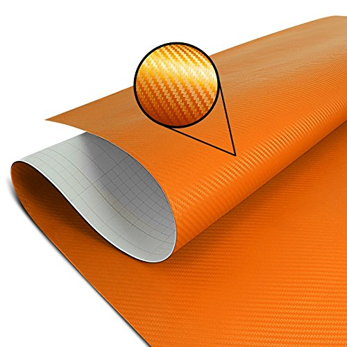 Adhesif Thermoformable Carbone Orange 75x100cm pour KTM 1190 Adventure/R, 125 Duke, 200 EXC, 300 EXC, 350 EXC-F, 350 SX-F, 390 Duke, 990 Supermoto SM/R, Freeride 250 R/ 350, RC 125/390