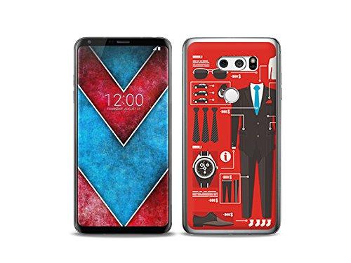 etuo LG V30S ThinQ - Hülle Fantastic Case - Business Handy - Handyhülle Schutzhülle Etui Case Cover Tasche für Handy