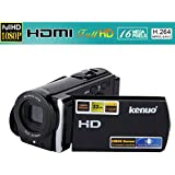 KENUO - Videocámara Digital DV (1080P, 16MP, Pantalla 3.0 TFT LCD, 16X Zoom, FHD/HD/VGA) Cámara de Video - Negro