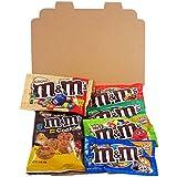 Mini Cesta Americana M&M | Chocolate y Caramelo | Golosinas para Navidad Reyes o para regalo | Caja de caramelos y Chucherias Americanas
