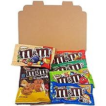 Mini Coffret cadeau M&M's Américain| Boîte American Candy, Chocolat, M&M | Sélection de confiseries chocolats authentiques |Coffret cadeau vintage