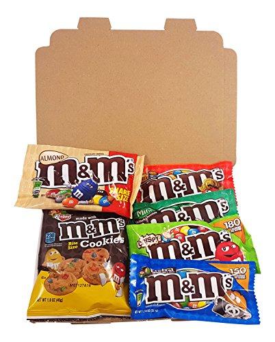Preisvergleich Produktbild Kleiner Amerikanische M&M's Süßigkeiten Geschenkkorb von Heavenly Sweets / Süßigkeiten aus den USA / M&M Süßigkeiten in einer tollen retro Geschenkebox verpackt